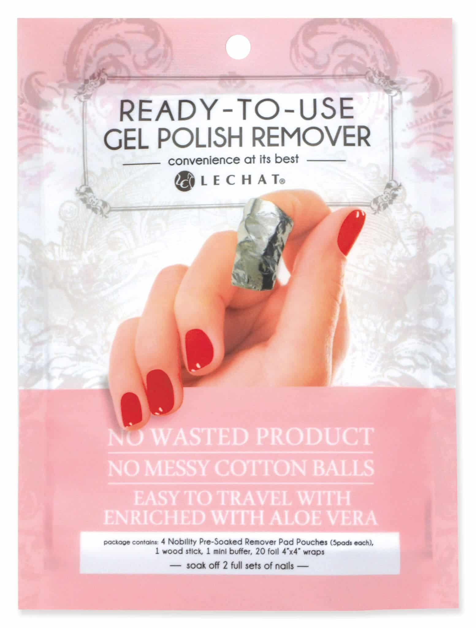 Nobility - Ready-To-Use Gel Polish Remover Pads Kit | LeChat Nails