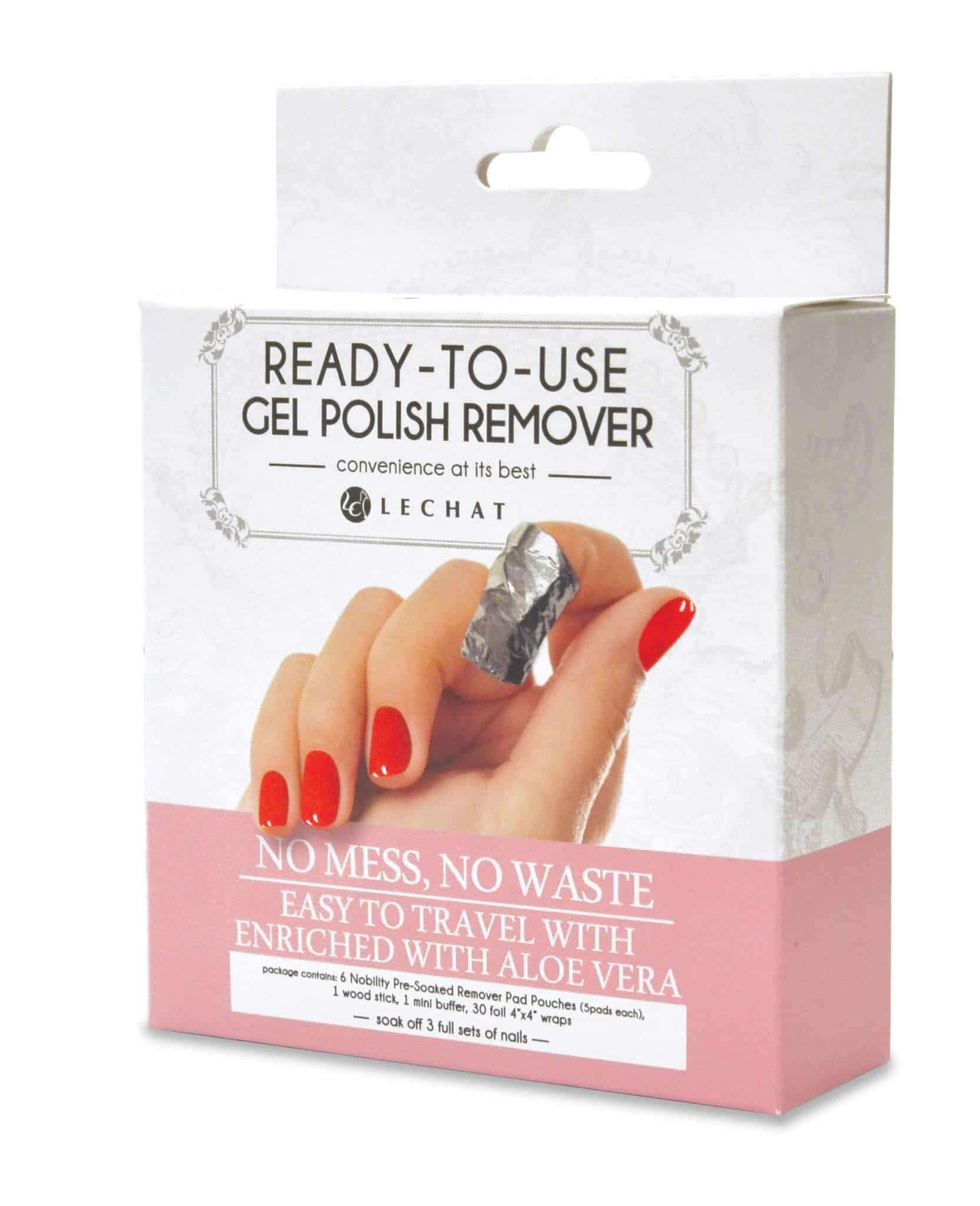 Nobility Ready To Use Gel Polish Remover Pads Box Lechat Nails