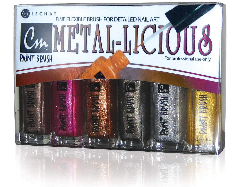 Metal-licious CM paint set, includes five colors.