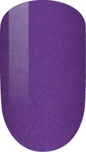 purple color sample on nail-tip.