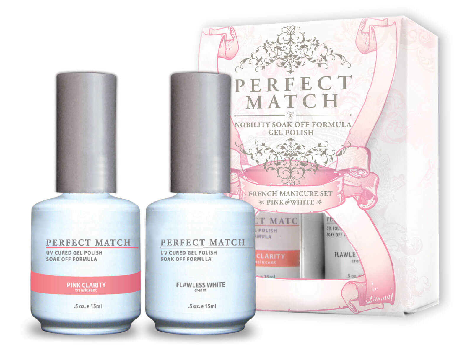 Perfect Match - French Manicure Set Pink & White | LeChat Nails