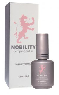half fluid ounce bottle of Nobility clear gel with box.