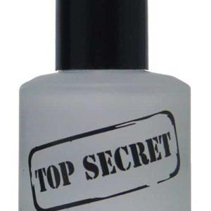 half liquid ounce bottle of top-secret nail top-coat.