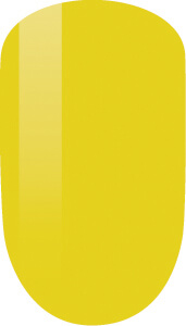 yellow color sample on nail-tip.