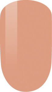 beige color sample on nail-tip.