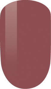 brown color sample on nail-tip.