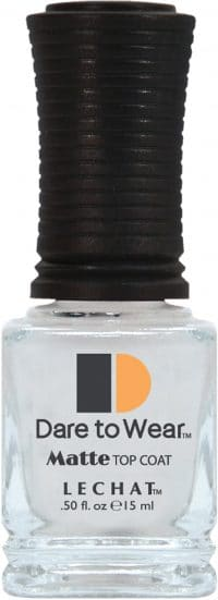 half fluid ounce bottle of Dare to Wear matte top coat.