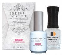 Perfect Match matte gel sealer set of bottles with box.