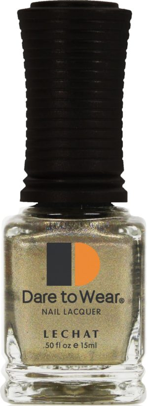 half fluid ounce bottle of golden Dare to Wear lacquer.