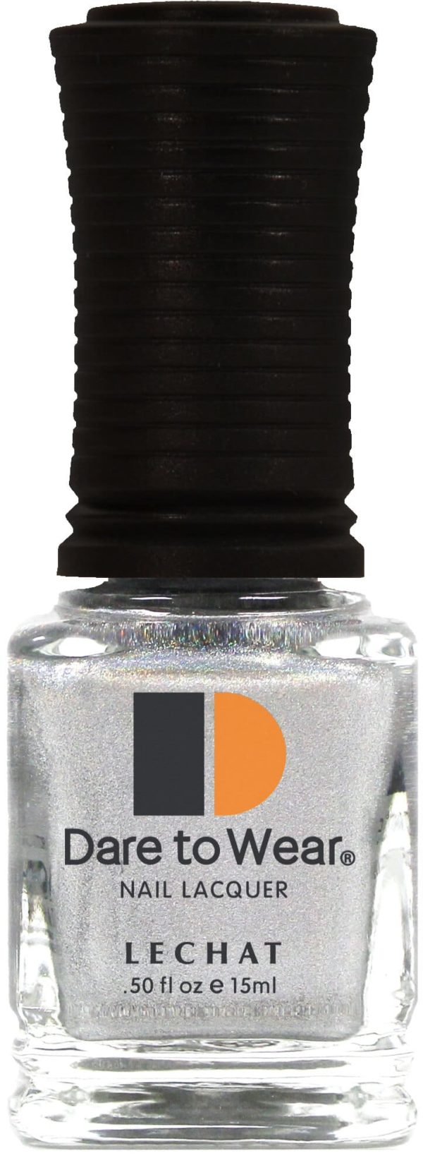 half fluid ounce bottle of silver Dare to Wear lacquer.