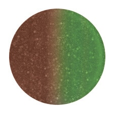 green to brown color sample.