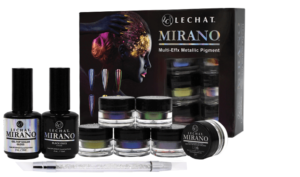 Mirano multi-effx box set with contents in front of box.