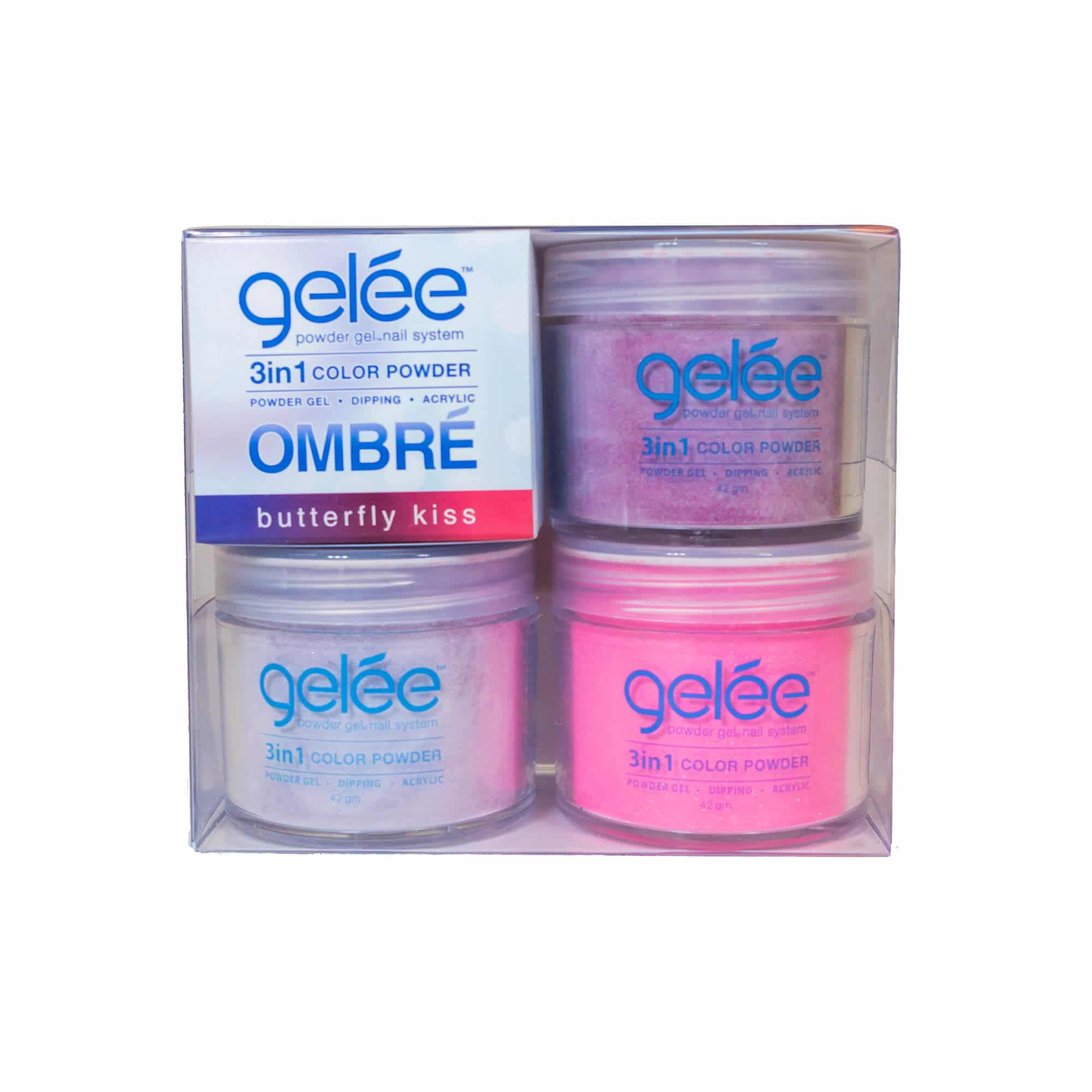Gelée 3in1 Powder Gel - Butterfly Kiss Ombre Kit | LeChat Nails