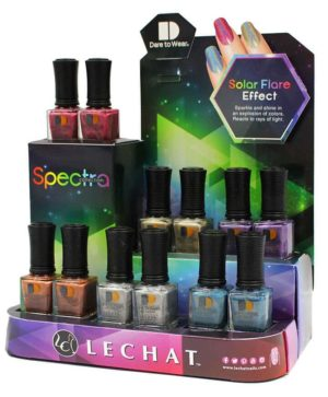 Dare to Wear Spectra display with various colors of lacquer