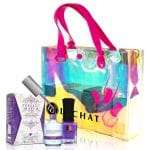 Perfect Match box with containers alongside a colorful transluscent LECHAT bag