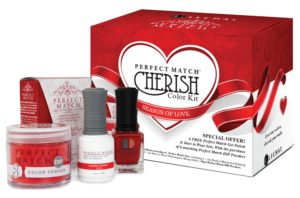 Perfect Match Cherish box set with Cherry Cosmo product bottles in front.