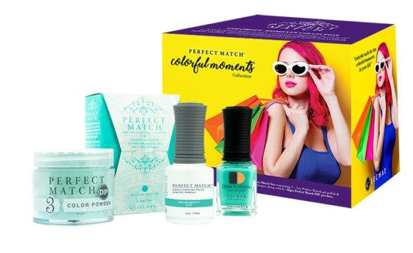 Colorful Moments box set with Teal-Me About it products in front.