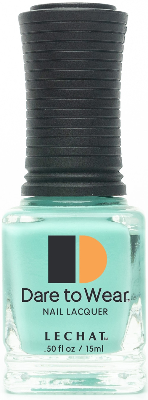 half fluid ounce bottle of teal Dare to Wear lacquer.