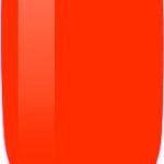 orange color sample on nail-tip.