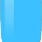 blue color sample on nail-tip.