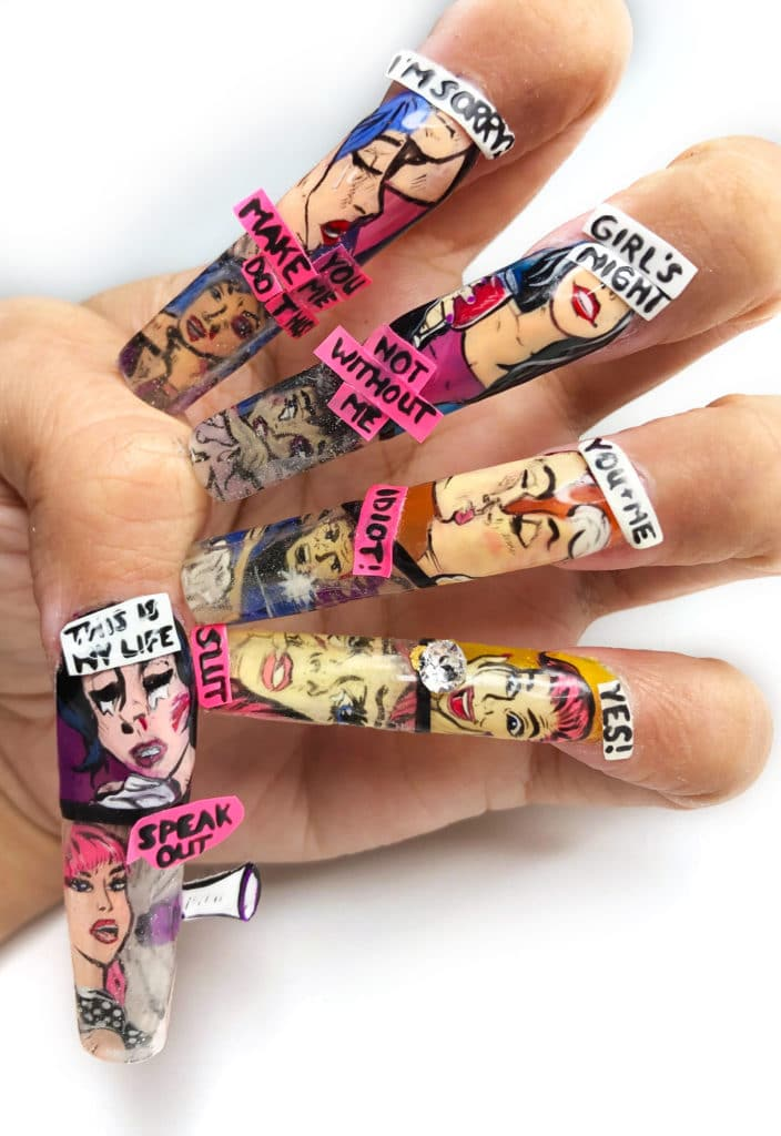 LeChat Nails Perception Nail Art by Kelsey Waldo for Nails Magazine NTNA 2019