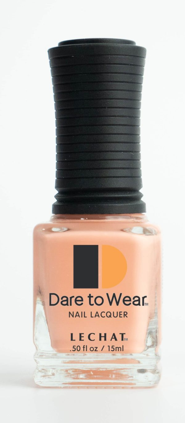 half fluid ounce bottle of beige Dare to Wear Lacquer.