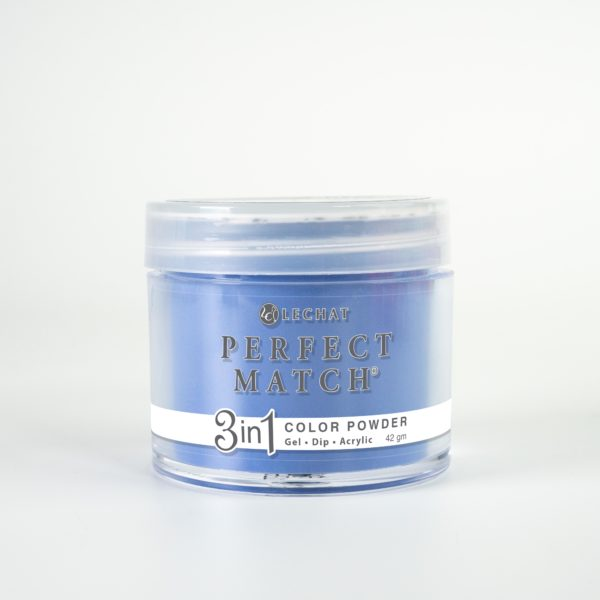 42 gram jar of Perfect Match Powder Indigo Flow