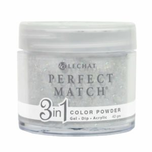 42 gram container of white/glitter Perfect Match dip.