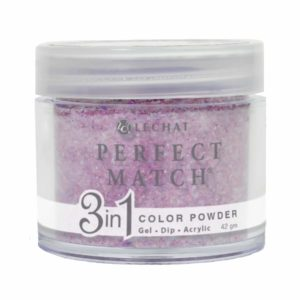 42 gram container of purple/glitter Perfect Match dip.