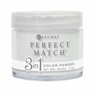 42 gram container of white glitter  Perfect Match dip.