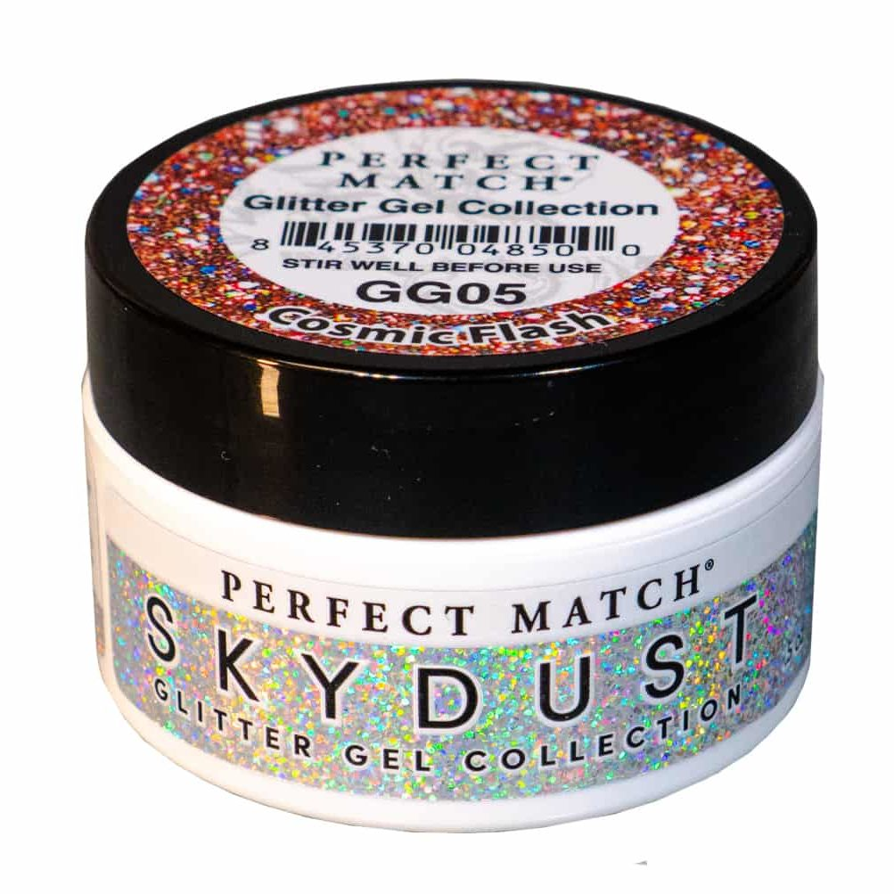 Jar of Cosmic Flash glitter gel.