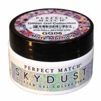 Jar of Misty Morning glitter gel.