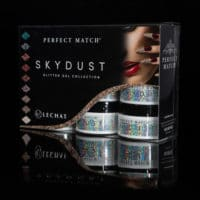 Sky Dust Packaging with container jars inside.