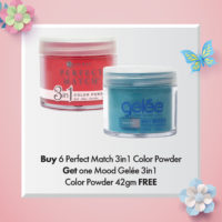Buy 6 Perfect Match 3in1 Color Powder, Get 1 Mood Gelée 3in1 Color Powder 42gm FREE