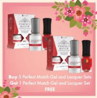 Buy 5 Perfect Match Gel and Lacquer Sets Get 1 Perfect Match Gel and Lacquer Set FREE
