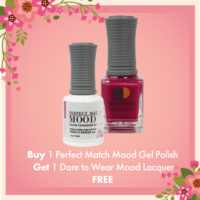Buy 1 Perfect Match Mood Gel Polish Get 1 Dare to Wear Mood Lacquer FREE